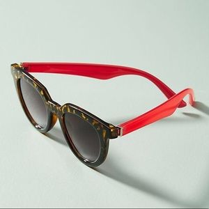 Anthropologie   Lois Sunglasses Red and Leopard